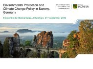 Environmental Protection and Climate Change Policy in Saxony ...