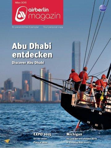 März 2015 - airberlin magazin - Abu Dhabi entdecken