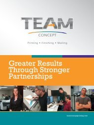 Greater Results Through Stronger Partnerships - Team Concept ...