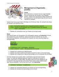 Management en Organisatie - proefles - Vecon