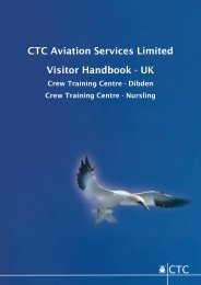CTC Aviation Services Limited Visitor Handbook - UK