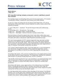 NZ's top pilot training company announces careers ... - CTC Aviation