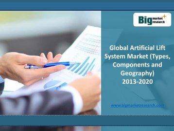 Global Artificial Lift System Market Trends, Demand (Types, Components and Geography) 2013-2020