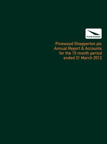 Pinewood Shepperton plc Annual Report ... - Pinewood Studios