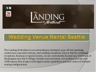 Wedding Venue Rental Seattle