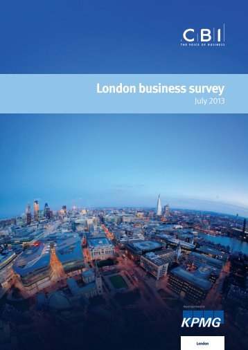 "Download ""CBI KPMG London Business Survey"""