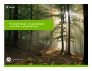 The Growth Values: How GE aligned its culture with its growth ... - CBI