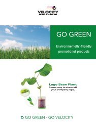 Download our Green Product Catalog (pdf) - Velocity Print Solutions