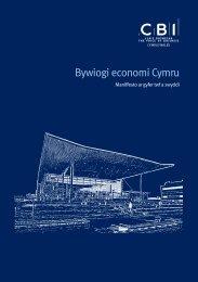 Bywiogi economi Cymru - CBI