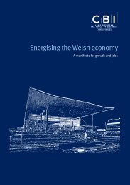 Energising the Welsh Economy: Delivering Growth and Jobs - CBI