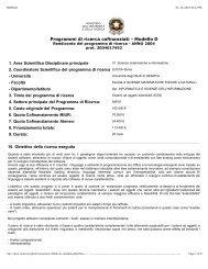 Programmi di ricerca cofinanziati - Modello D - Università degli Studi ...