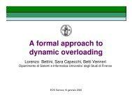 Dynamic overloading - Università degli Studi di Genova