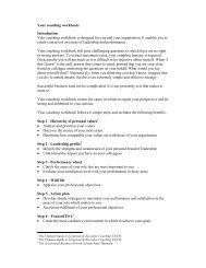 Your coaching workbook - Fraser Web Design