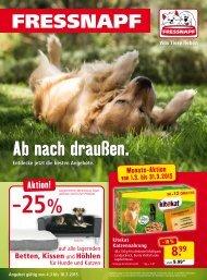 Fressnapf Österreich Flugblatt März 2015