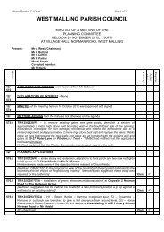 20th November 2012 - West Malling Parish Council