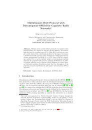 Multichannel MAC Protocol with Discontiguous-OFDM for Cognitive ...