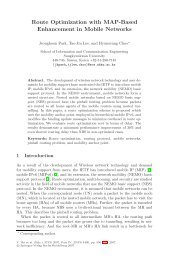 Route Optimization with MAP-Based Enhancement in Mobile Networks