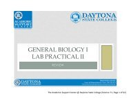 General Biology I Lab Practical II Presentation - Daytona State College