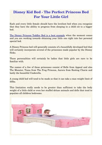 Disney Kid Bed ­ The Perfect Princess Bed For Your Little Girl