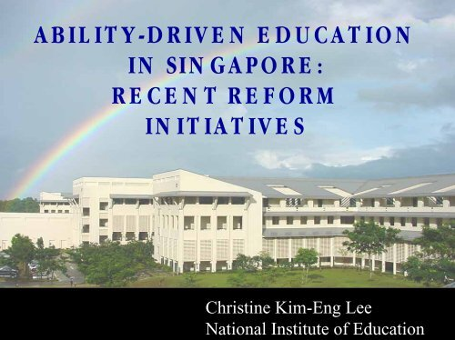 Ability-Driven Education in Singapore