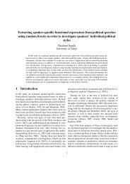 Extracting speaker-specific functional expressions from political ...