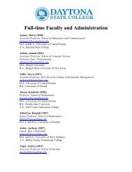 Full-time Faculty and Administration - Daytona State College