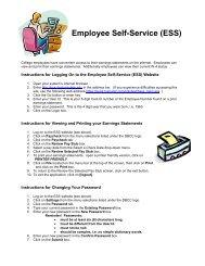 Employee Self-Service (ESS) - Daytona State College