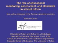The role of educational monitoring, assessment, and standards in ...