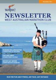 December 2011 Newsletter - West Australian Marathon Club