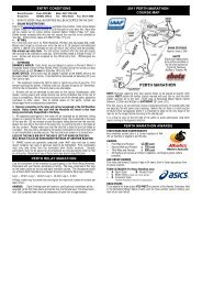 entry conditions perth relay marathon 2011 perth marathon course ...