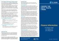 Finance Information CTC - CTC Aviation