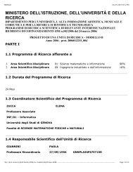 Modello B - Alessandria - Università degli Studi di Genova