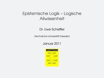 Epistemische Logik – Logische Allwissenheit - sodass.net