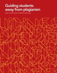 Guiding students away from plagiarism (KTH)