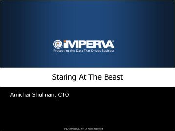 Staring at the Beast – Monitoring and Analyzing - TCE Events