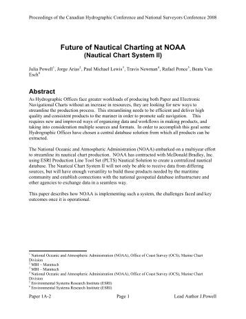 Future of Nautical Charting at NOAA