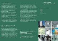 Presentazione del corso - Dipartimento di Ingegneria Gestionale