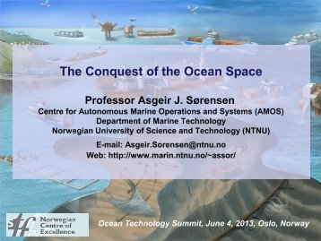 Centre for Autonomous Marine Operations and Systems ... - Maritim21