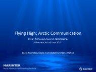 Flying High: Arctic Communication - Maritim21