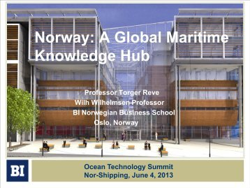 Norway: A Global Maritime Knowledge Hub - Maritim21