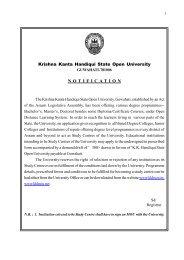 Application Form for Establishing a New Study Centre of KKHSOU