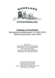 Katalog m/resultater Bevegelig blodsporprøve 1/5-30/6-2011 ...