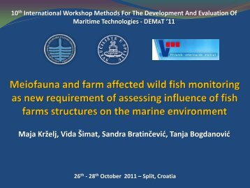 Meiofauna and farm affected wild fish monitoring as new ...
