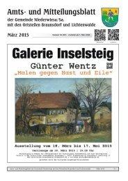 Amts- und Mitteilungsblatt März 2015