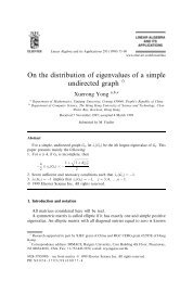 On the distribution of eigenvalues of a simple undirected graph q