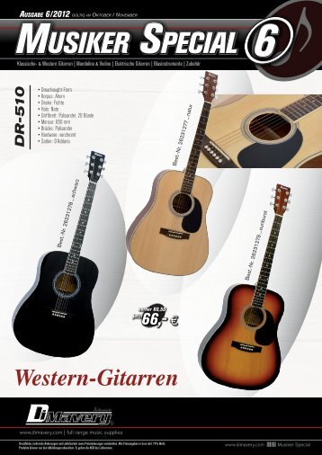 ElEktrischE GitarrEn ElEktrischE GitarrEn ... - MSW Showtechnik