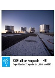ESO Call for Proposals – P91