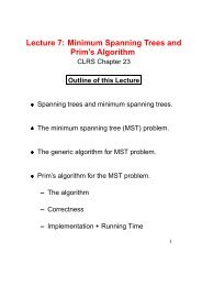 Lecture 7: Minimum Spanning Trees and Prim's Algorithm