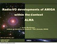 TOOLS FOR ALMA - AMIGA : Analysis of the interstellar Medium of ...