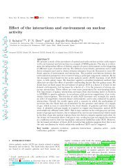 Effect of the interactions and environment on nuclear activity